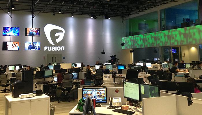 Fusion's newsroom