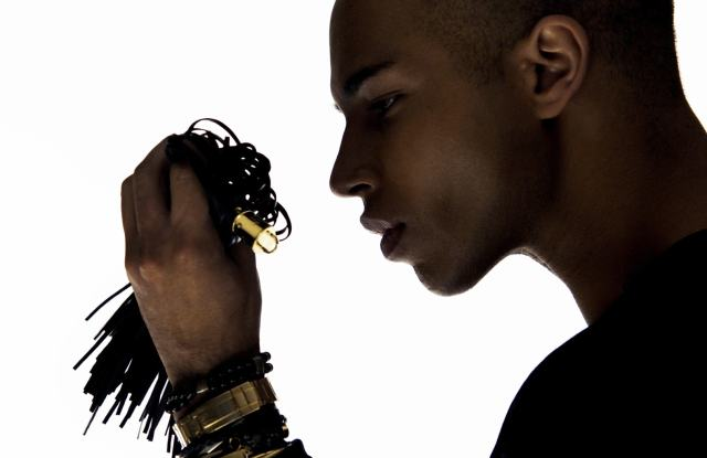 Olivier Rousteing in the video for Balmain's accessories.