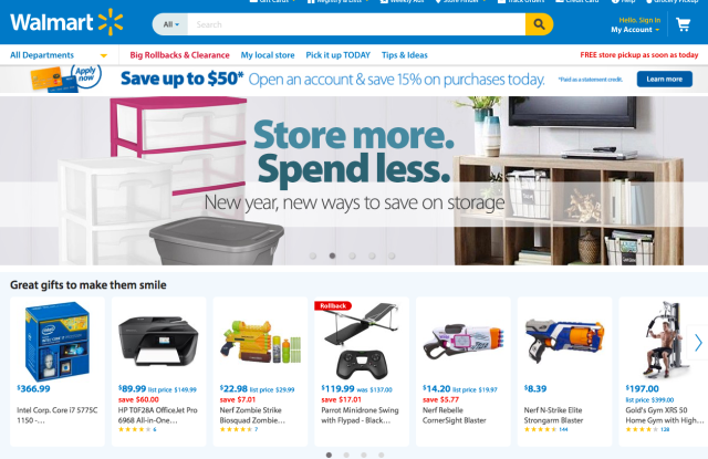 The Wal-Mart web site.