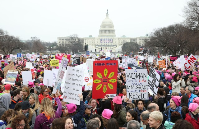 Women's solidarity march, Washington DC, USA - 21 Jan 2017
