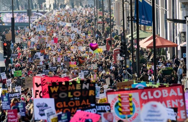 Women's March for Solidarity London UK