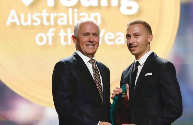 Malcolm Turnbull and Paul Vasileff