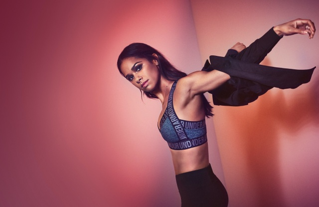 Misty Copeland in a look from her collection for Under Armour