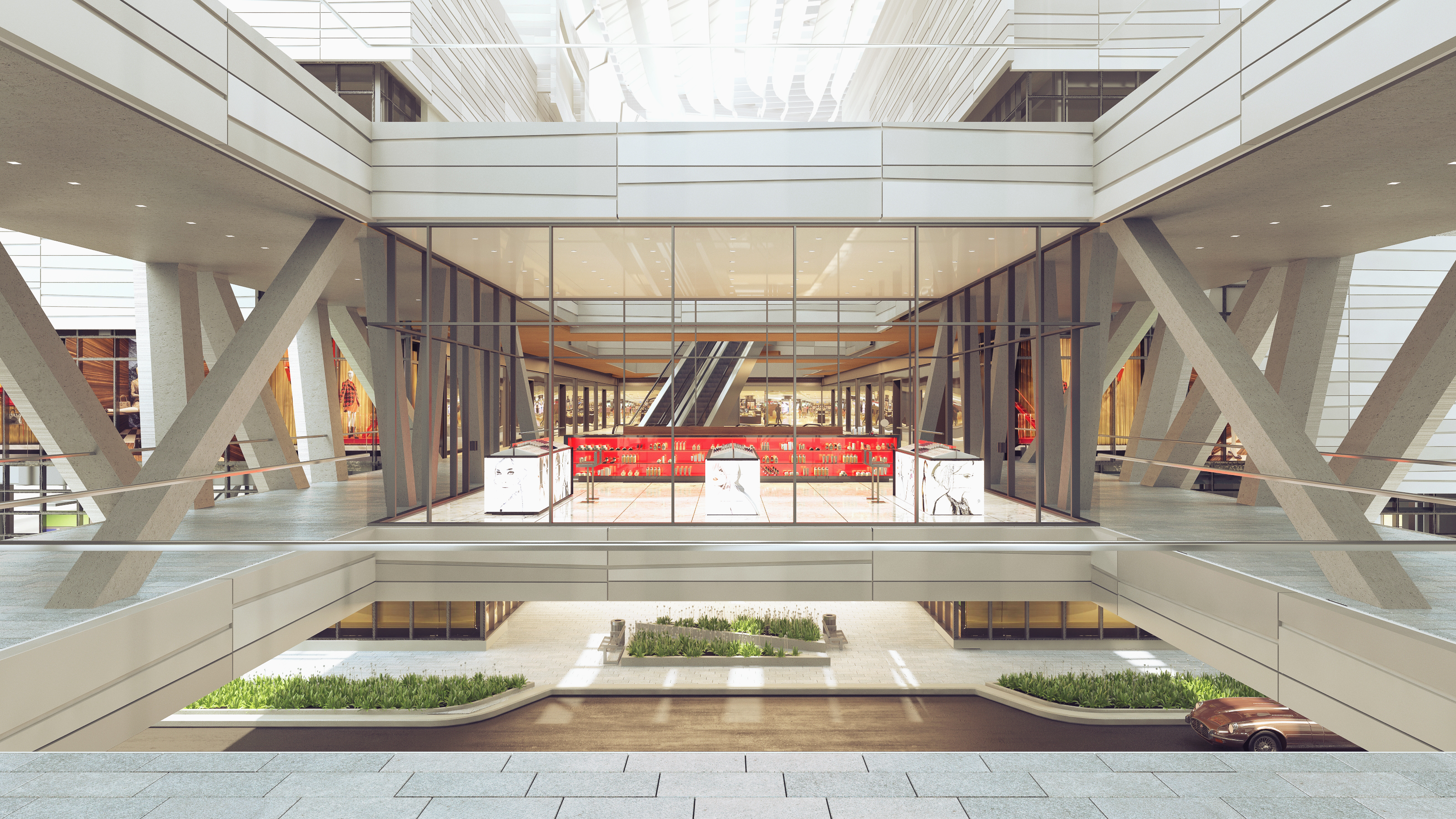 A rendering of MAC's glass store set to open at Brickell City Centre.