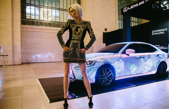 Coco Rocha at Lexus event.