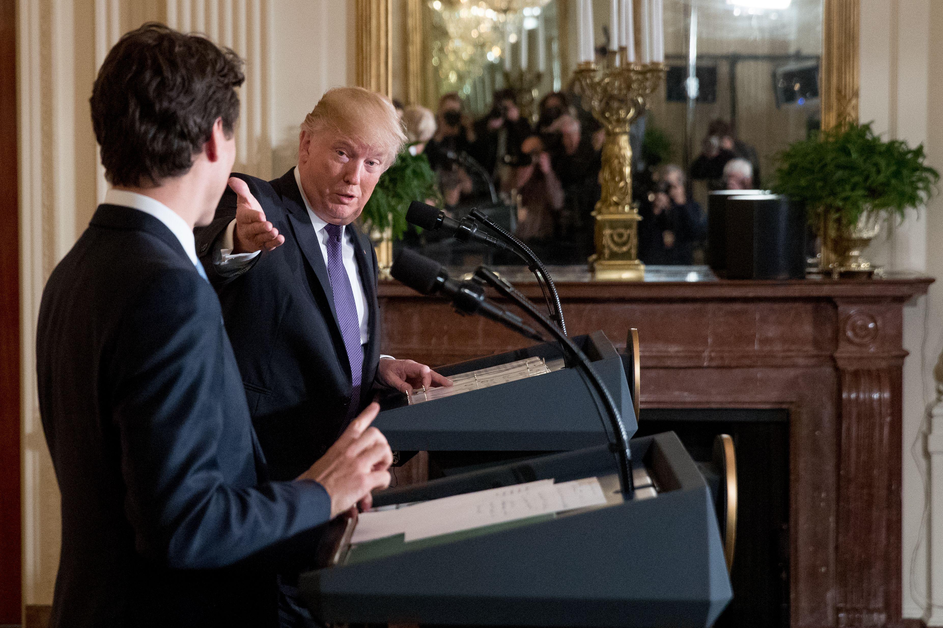 Trump US Canada, Washington, USA - 13 Feb 2017