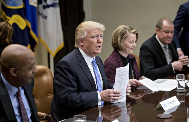 President Trump meets with the Retail Industry Leaders Association.