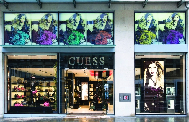 A Guess store.