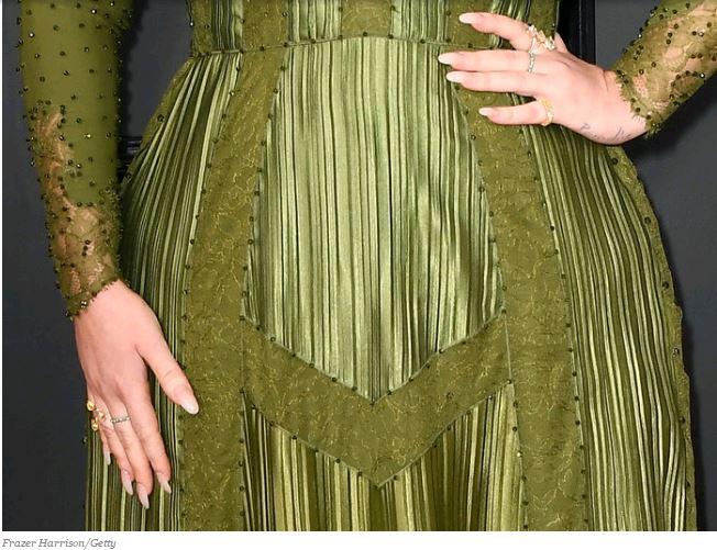 Adele's nails were Grammy ready.