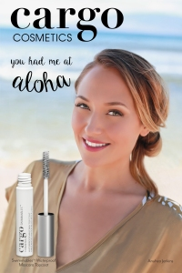 Anuhea with Cargo's Swimmables Waterproof Mascara Topcoat.