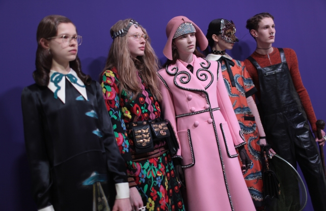 Backstage at Gucci RTW Fall 2017