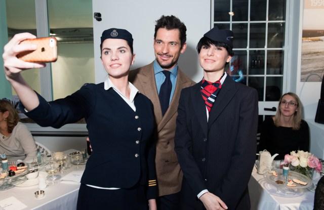 David Gandy attends British Airways' afternoon tea during Milan Fashion Week Fall 2017