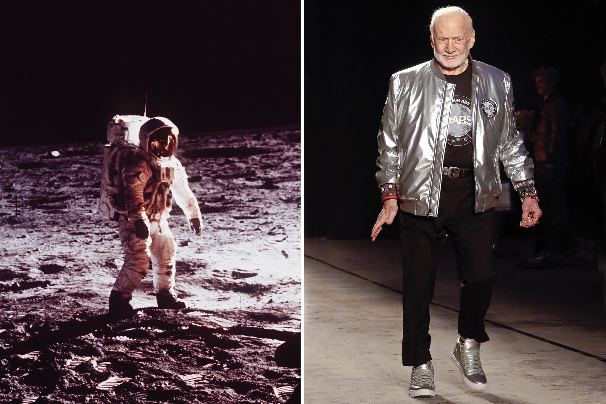 Buzz Aldrin at New York Fashion Week: Men's