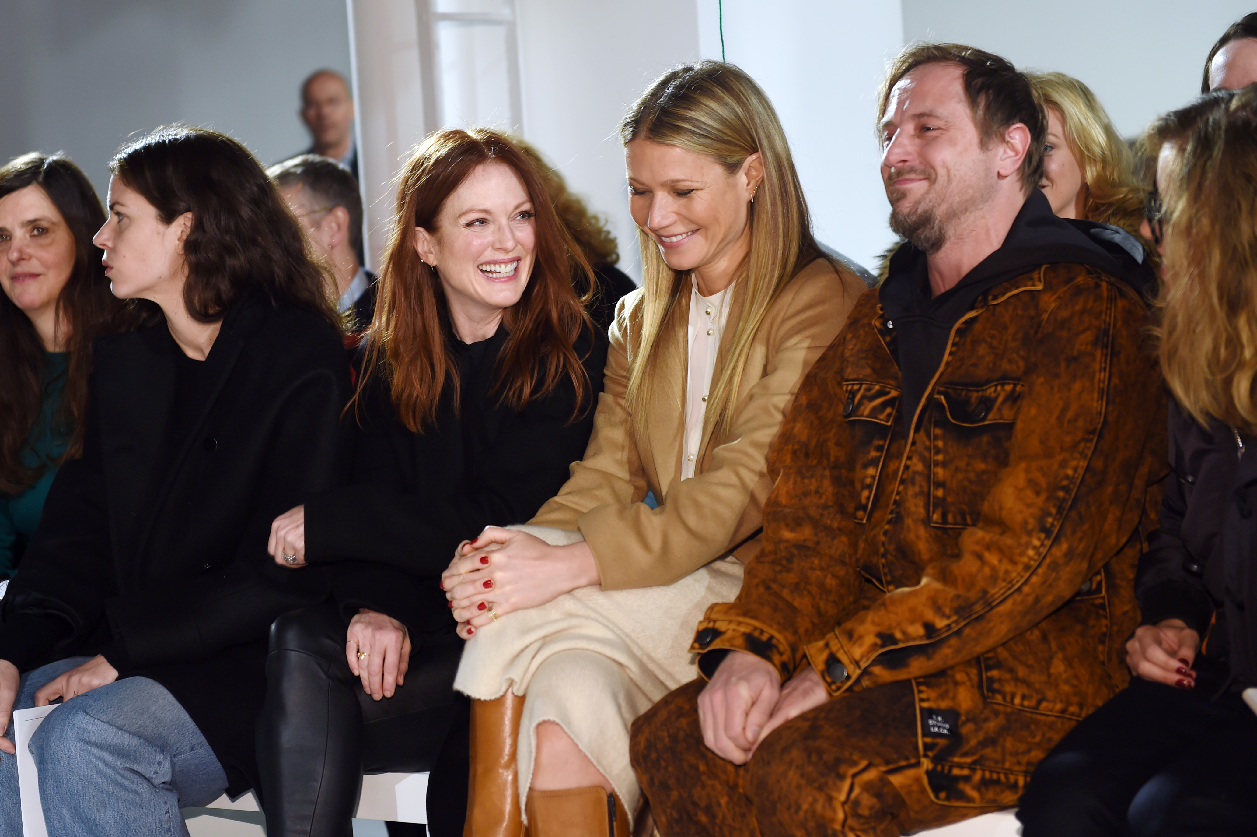 Julianne Moore and Gwyneth Paltrow Front Row at Calvin Klein RTW Fall 2017