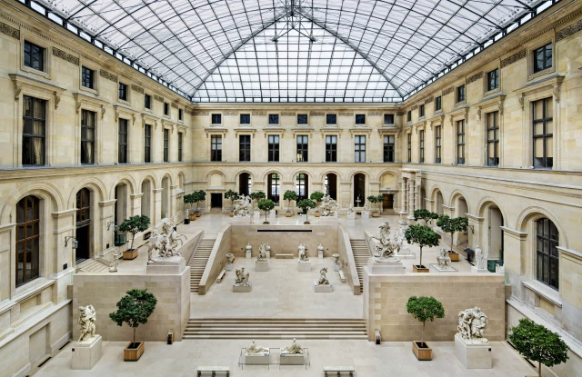 The Cour Marly at the Louvre museum.