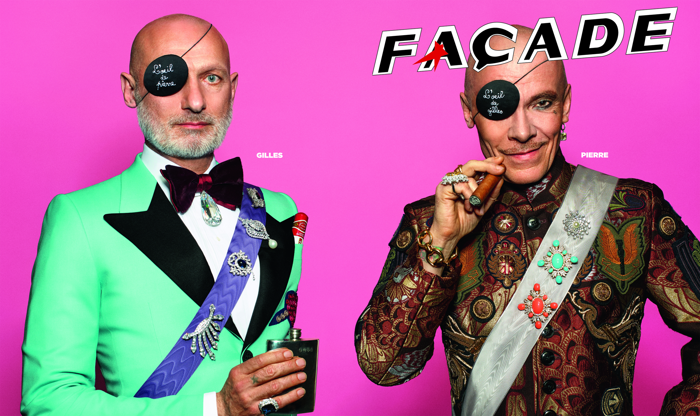 Facade 40th anniversary cover with Pierre et Gilles