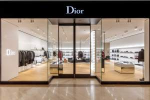 Dior Homme South Coast Plaza glass facade