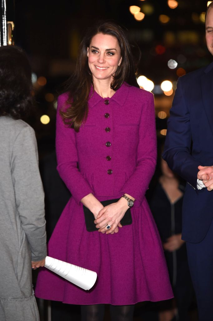 The Duchess wore an Oscar de la Renta skirt suit