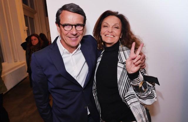 Diane von Furstenberg and Marc Menesguen