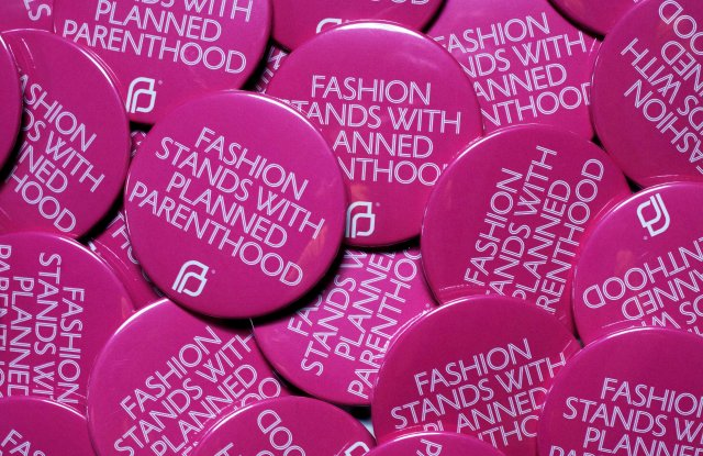 The CFDA/Planned Parenthood pins
