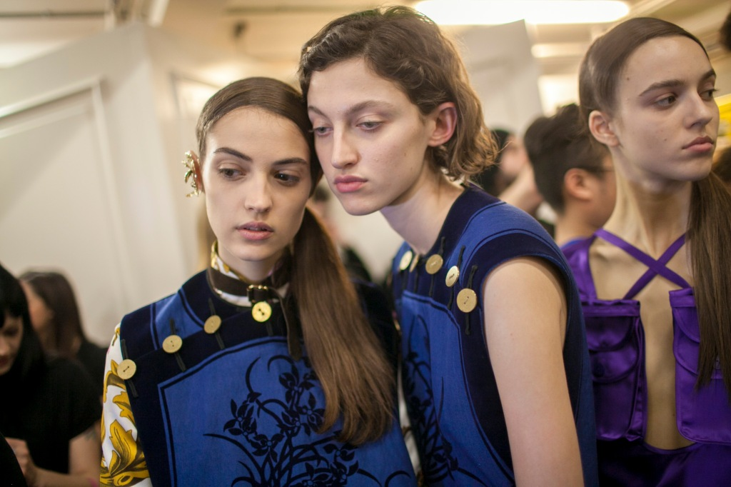 Backstage at JW Anderson RTW Fall 2017