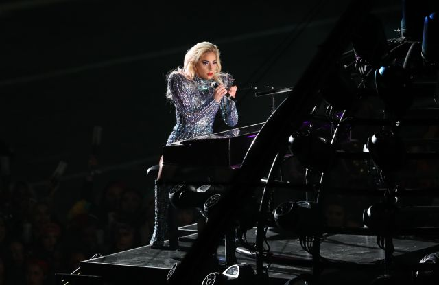 Lady Gaga performs during Super Bowl 51.