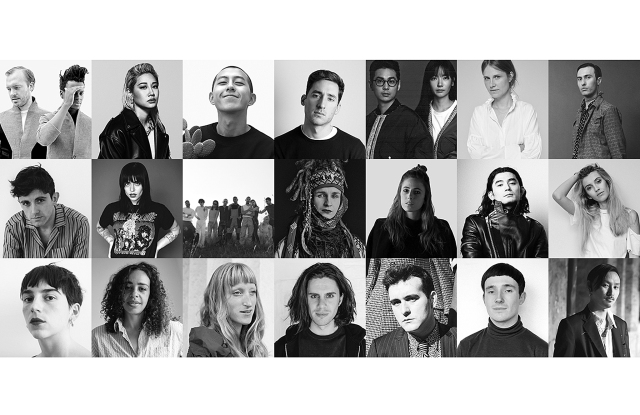 The 21 semifinalists for this year's edition of the LVMH Prize for Young Fashion Designers.