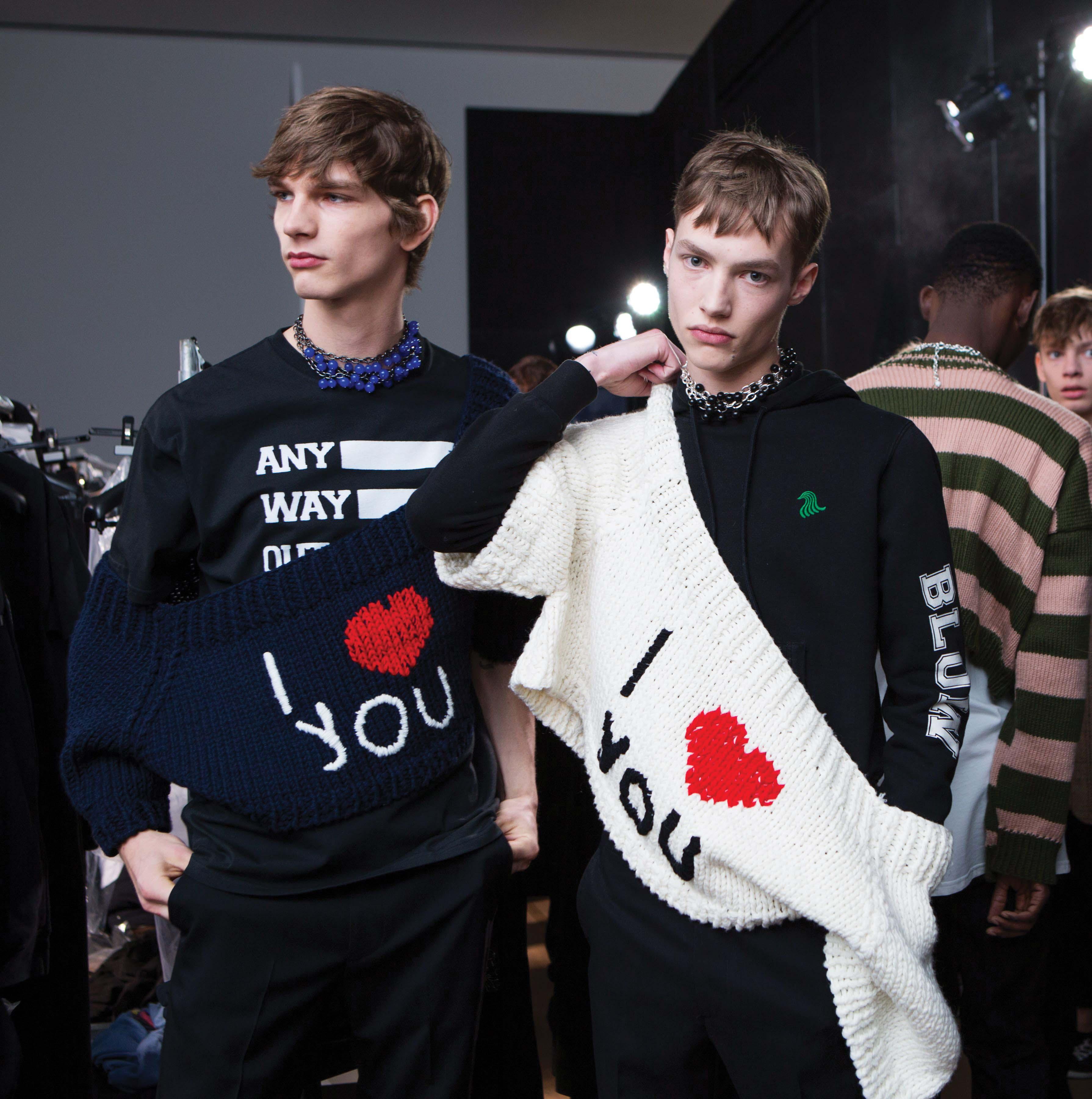 Raf Simons show, Fall Winter 2017, New York Fashion Week Men's, USA - 01 Feb 2017