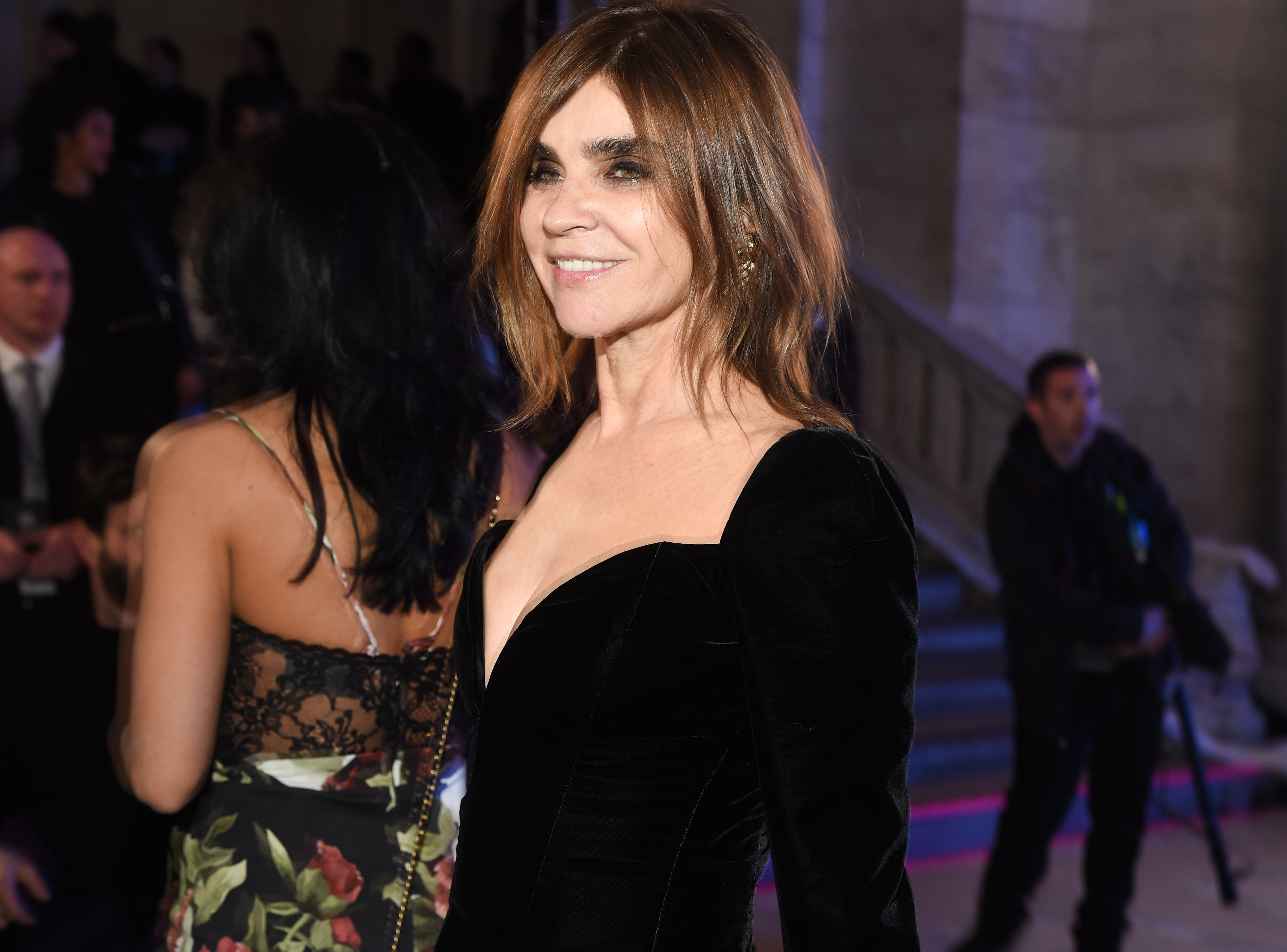 Carine Restoin-Roitfeld, Front Row and Party at Philipp Plein Fall 2017