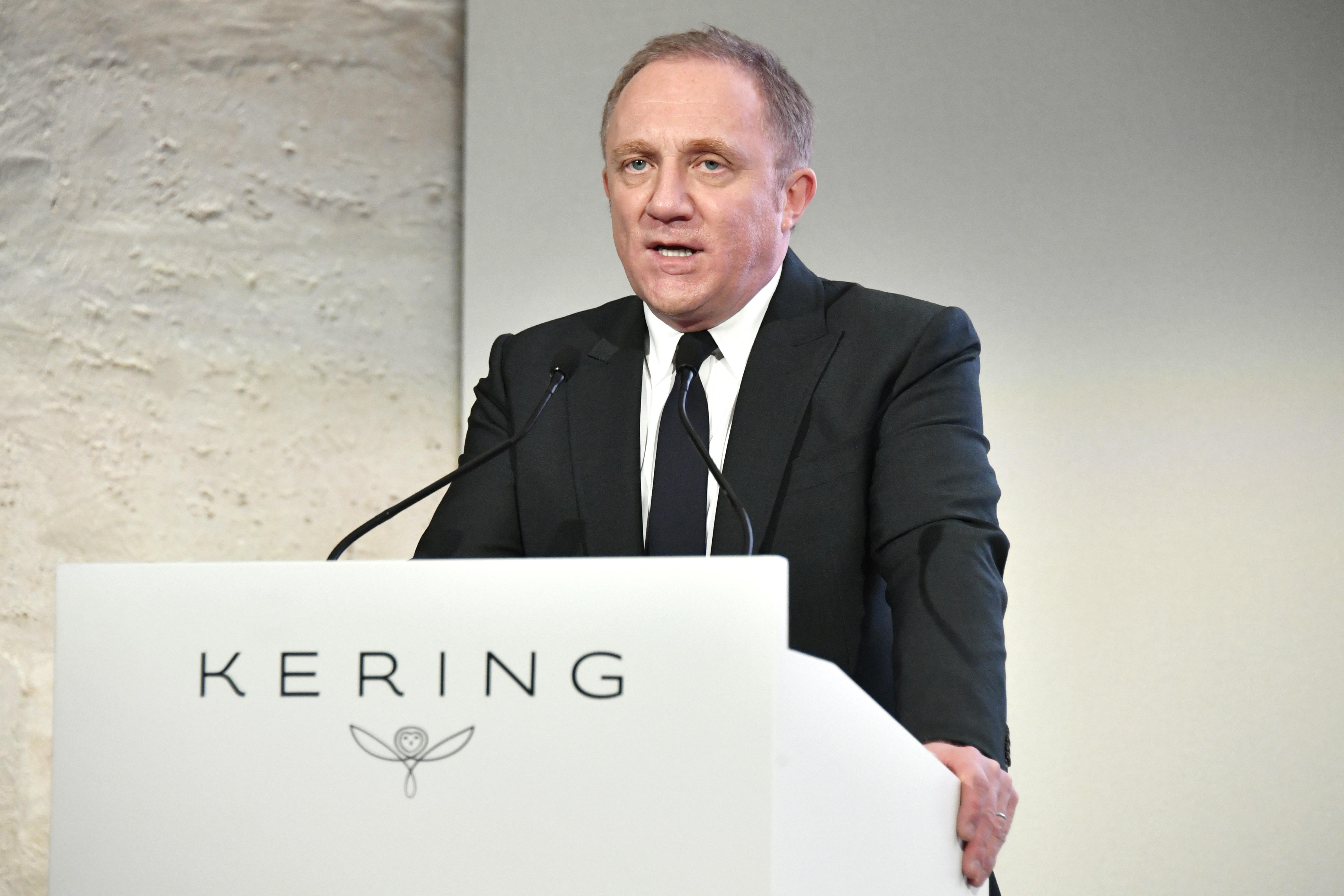 François-Henri Pinault at the Kering press conference