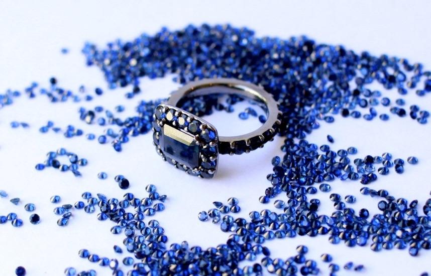 Reign Sapphires Hallmark engagement ring