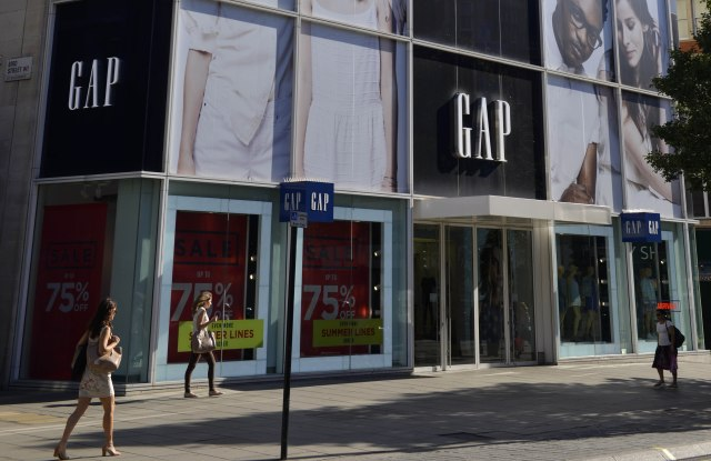 Gap store Oxford Street, London, England, BritainLondon, Britain - Jul 2014