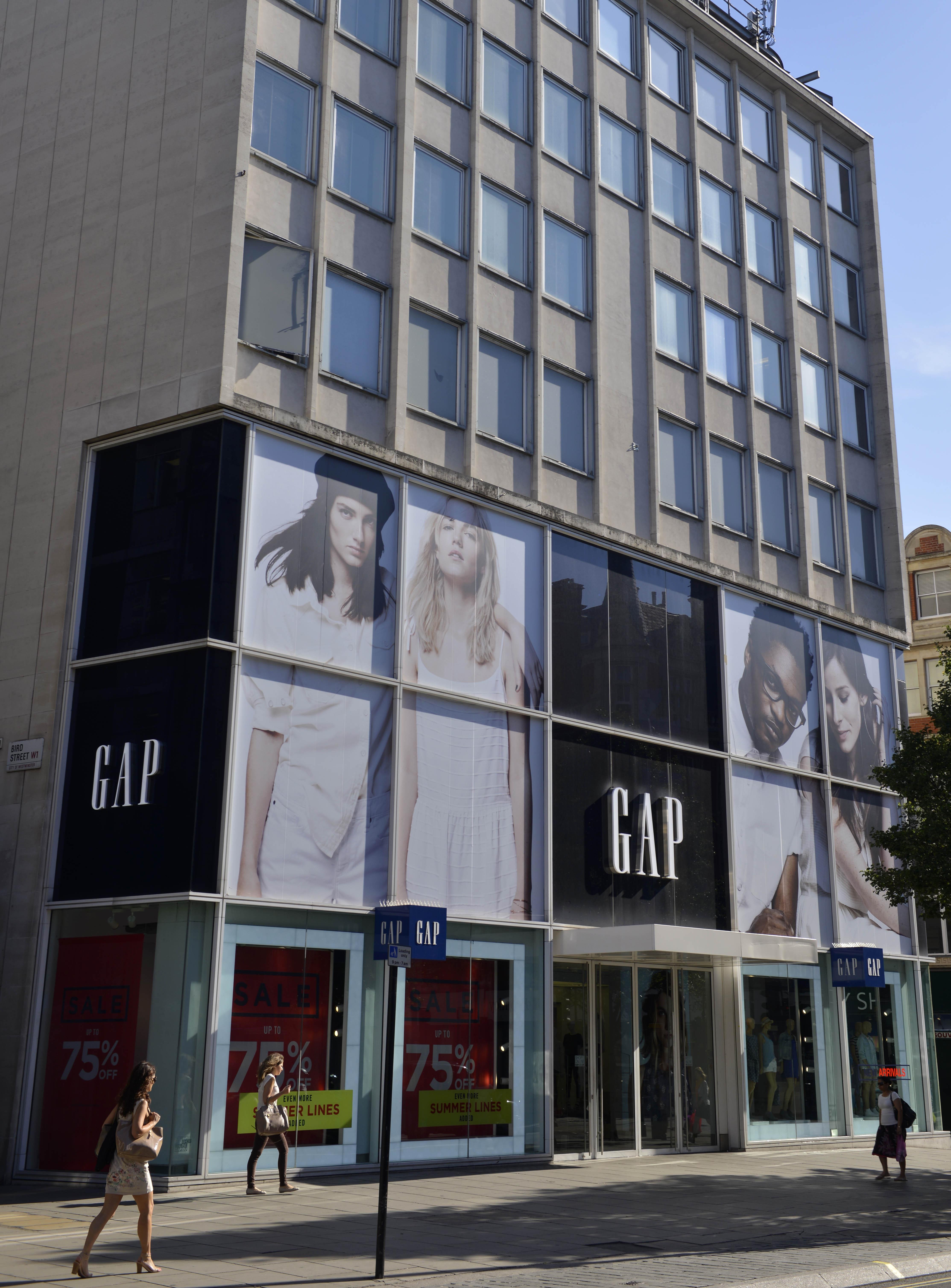 Gap store Oxford Street, London, England, BritainLondon, Britain - Jul 2014