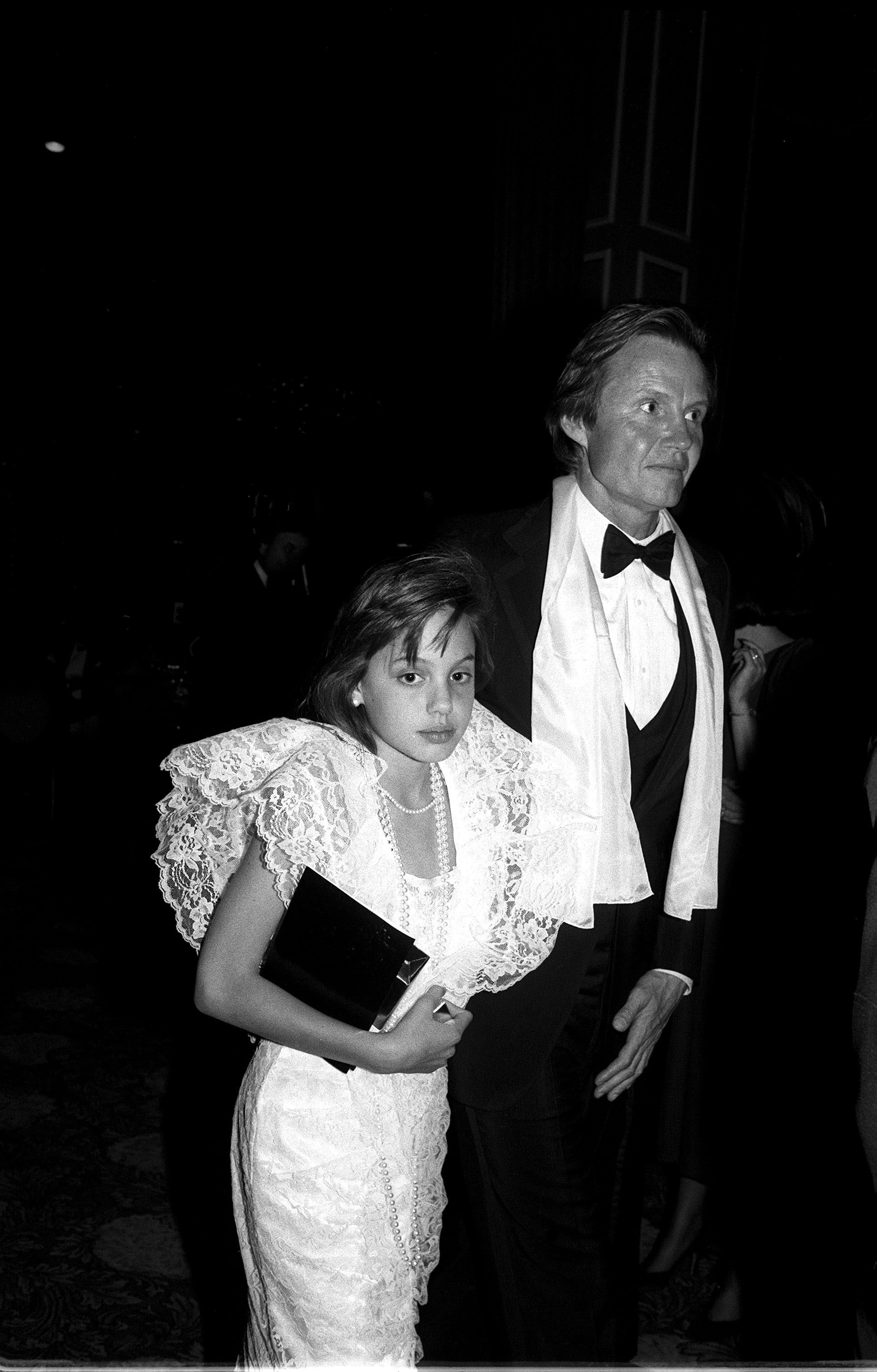 Angelina Jolie and Jon Voight, 1986