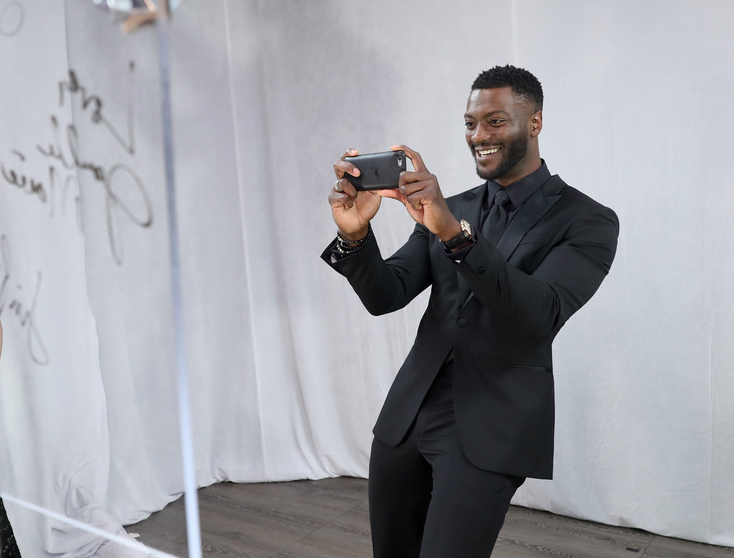 Aldis Hodge backstage 23rd Annual Screen Actors Guild Awards