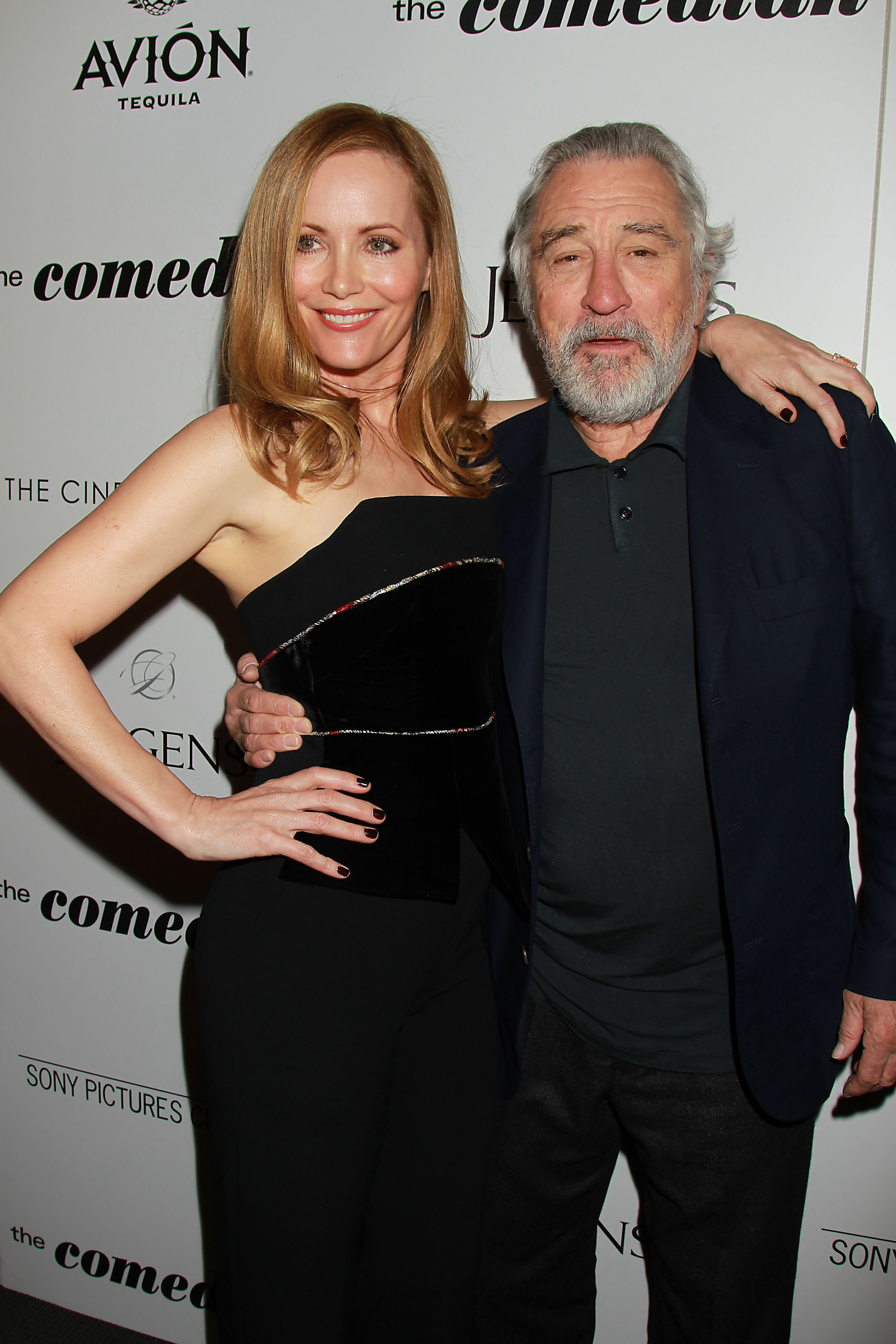 """Leslie Mann and Robert De Niro at a screening for """"The Comedian"""""""
