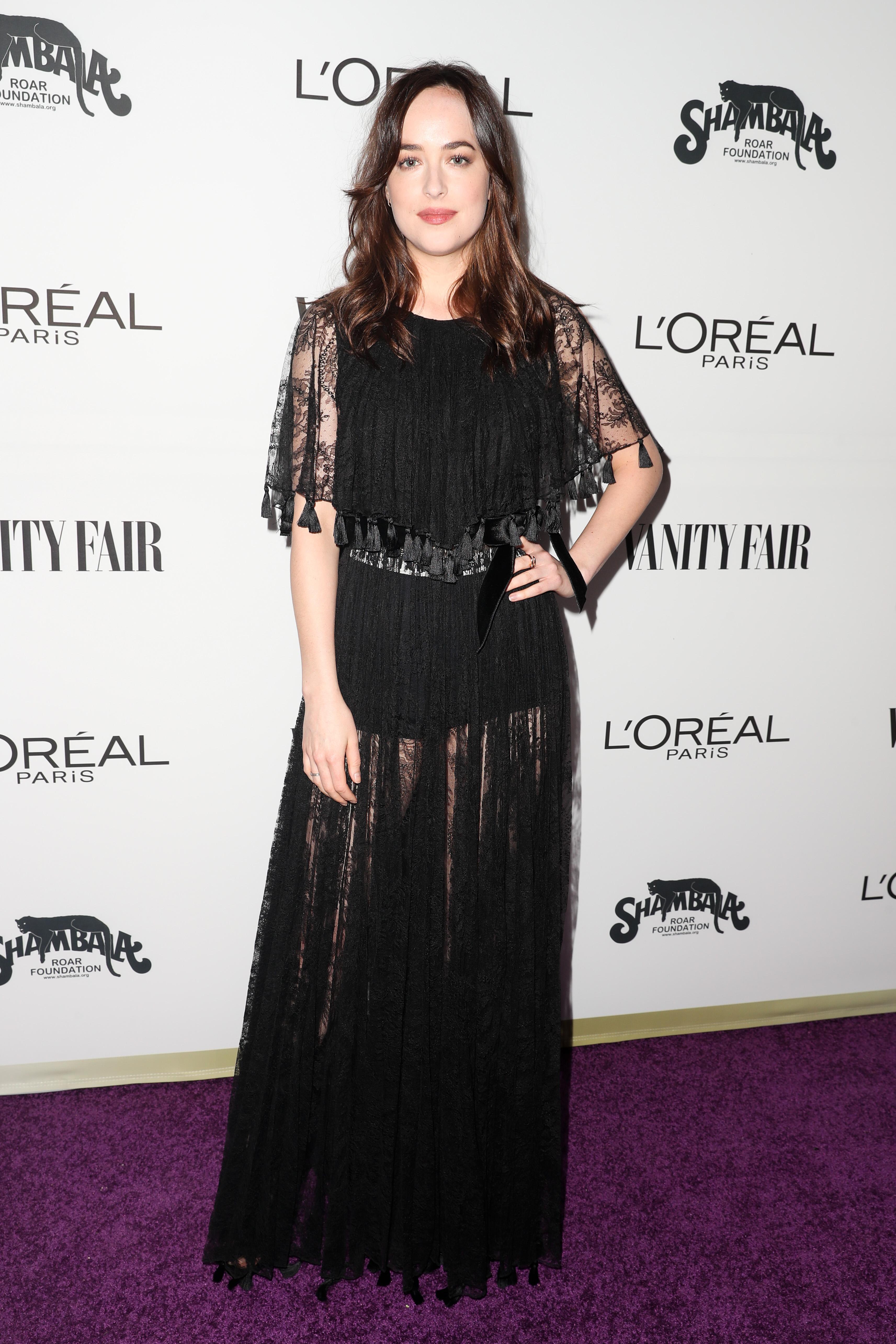 Dakota Johnson in Dior Vanity Fair and L'Oreal Paris Celebrate Young Hollywood