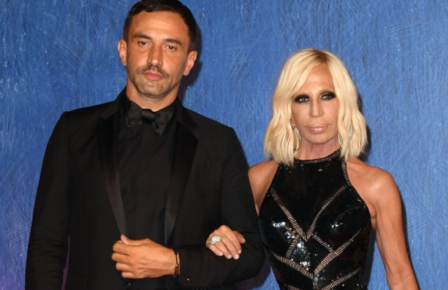 Riccardo Tisci, Donatella Versace and Naomi Campbell at the premiere of the movie 'Franca: Chaos and Creation,' 73rd Venice Film Festival