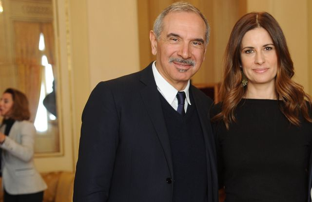 Carlo Capasa and Livia Firth