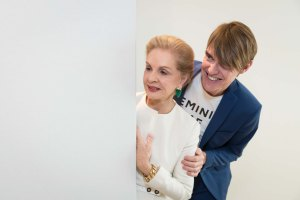 SAN FRANCISCO, CA - March 29 - Carolina Herrera and Ken Downing attend Carolina Herrera Personal Appearance and Runway Fashion Show on March 29th 2017 at Neiman Marcus in San Francisco, CA (Photo - Drew Altizer)