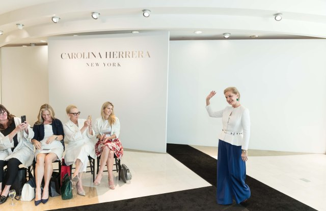 SAN FRANCISCO, CA - March 29 -  Carolina Herrera attends Carolina Herrera Personal Appearance and Runway Fashion Show on March 29th 2017 at Neiman Marcus in San Francisco, CA (Photo - Drew Altizer)