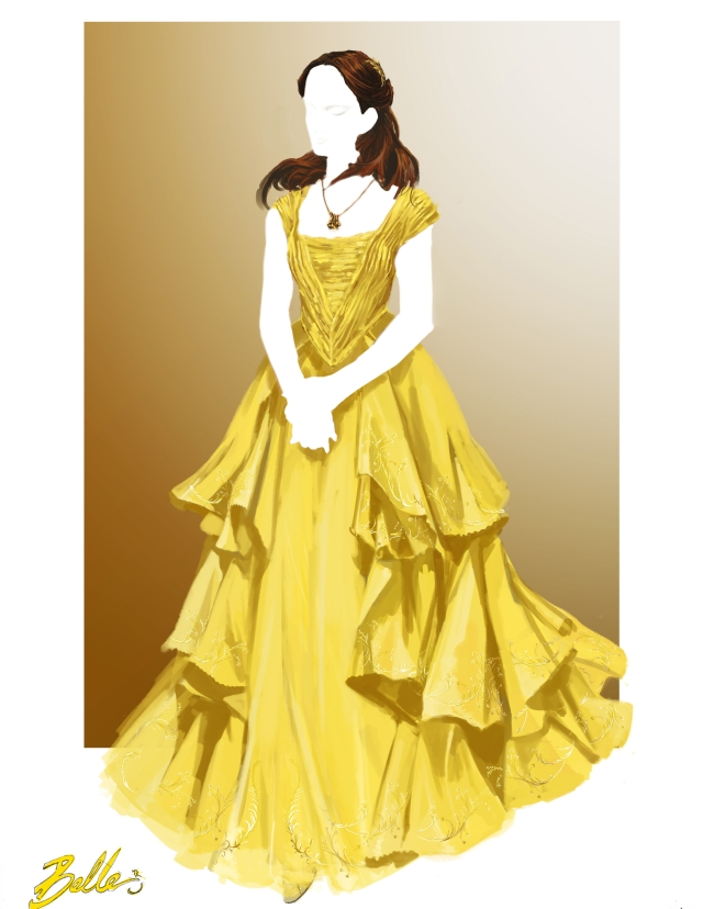 Costume illustration from Disney's live-action BEAUTY AND THE BEAST, directed by Bill Condon.