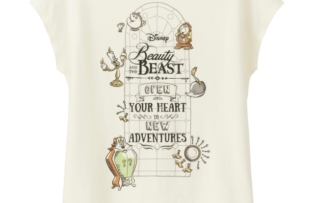 """From Uniqlo's """"Beauty and the Beast Collection"""""""