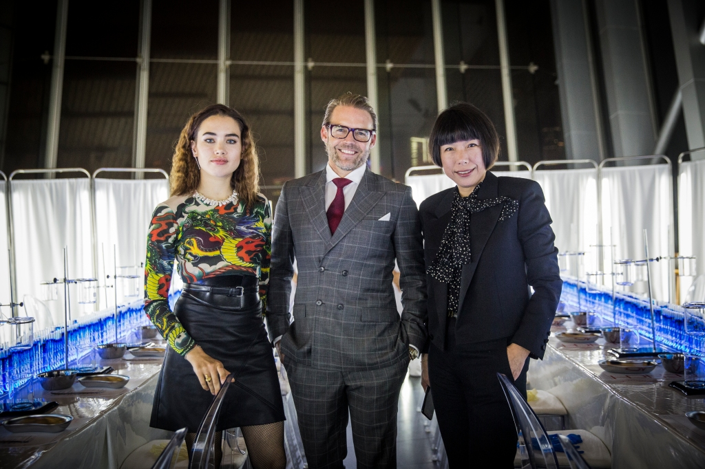 Isamaya Ffrench, QIC's Stuart Miller, and Angelica Cheung.
