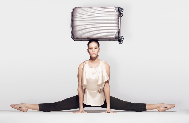 Contemporary dancer Renée in the new Samsonite Travel ad campaign by Rankin.
