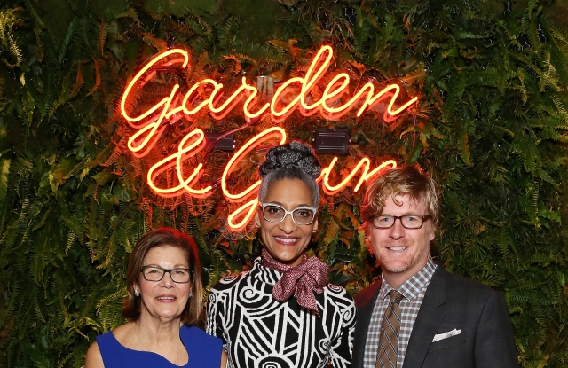 NEW YORK, NY - MARCH 16: (L-R) Co-founder & CEO at Garden & Gun Rebecca Darwin, Chef and TV personality Carla HallÊand Senior Vice President & Editor in Chief at Garden & Gun David DiBenedetto attend the Garden & Gun 10th Anniversary Celebration in NYC at Beekman Hotel on March 16, 2017 in New York City. (Photo by Monica Schipper/Getty Images for Garden & Gun)