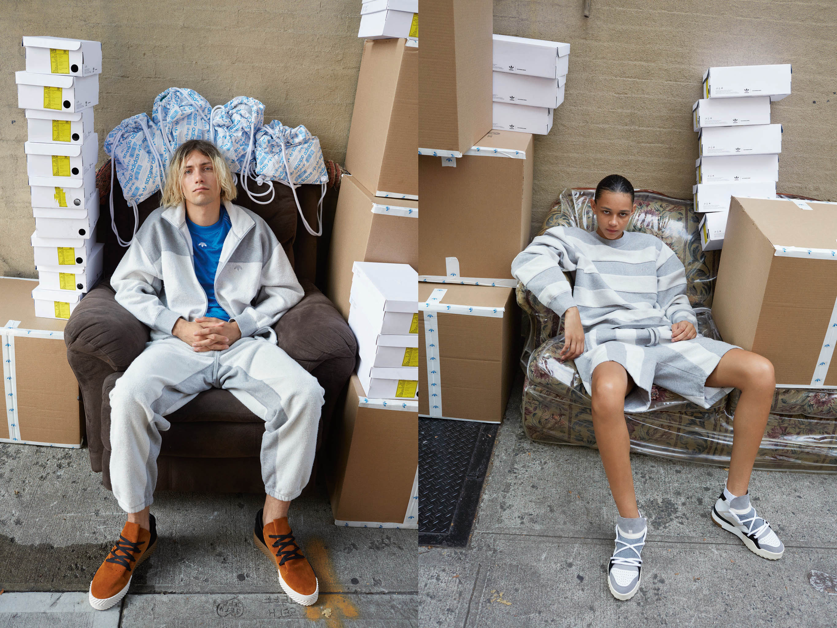 Looks from Adidas Originals x Alexander Wang.