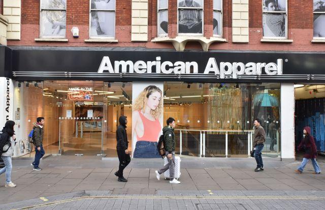 American Apparel shop on Oxford Street closed down and empty.American Apparel shop closed down on Oxford Street, London, UK. - 26 Dec 2016.