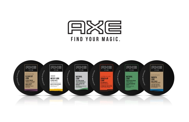 Axe Hair styling products.