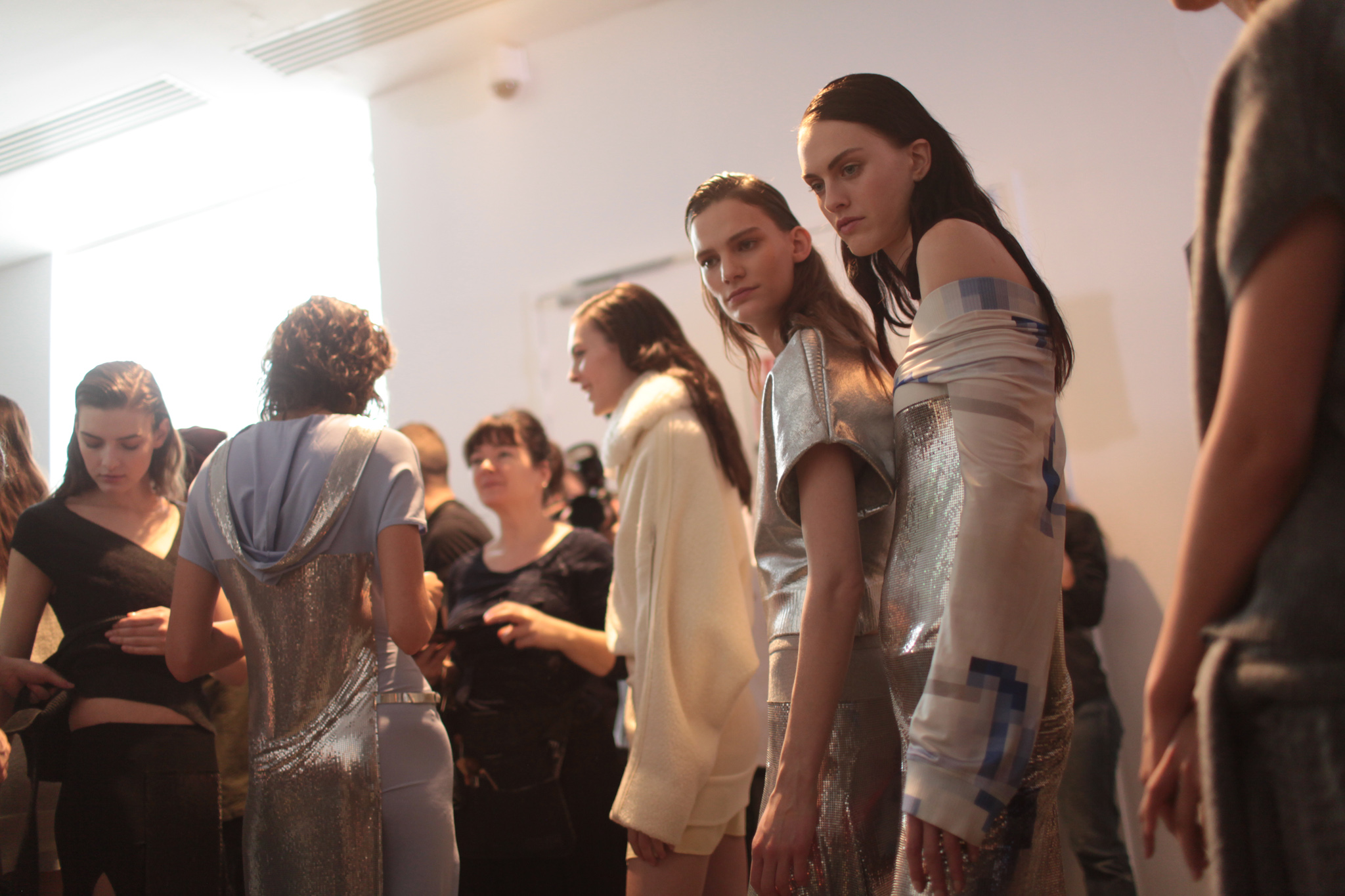 Backstage at Paco Rabanne RTW Fall 2017